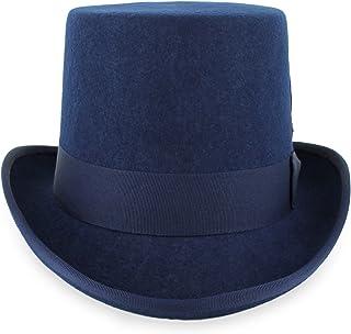 Belfry Topper 100% Wool Satin Lined Men s Top Hat in Black Grey Navy Pearl c8f8e97bdb92