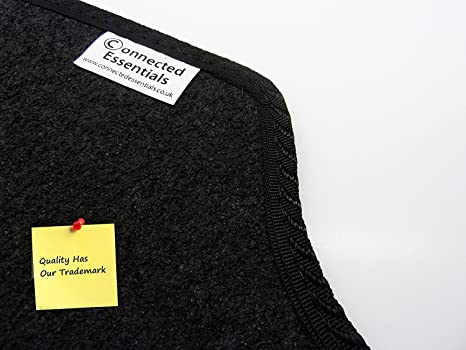 Car Mat Set 2005- Connected Essentials Tailored Custom Fit Car Mats for Sirion Black with Grey Trim