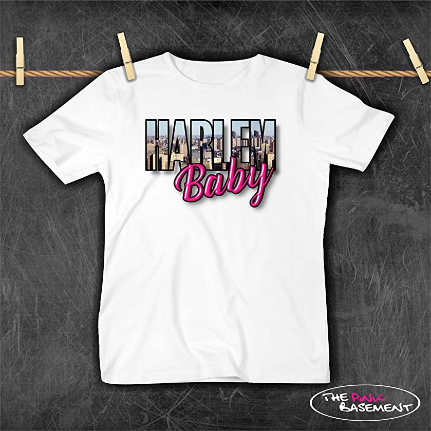 USA HANDMADE Harlem Baby NY NYC Bronx Queens Brooklyn Girls Boys T Shirt Toddler Kids Child Childrens Clothing Clothes top Tshirt gift Baby shirts Top