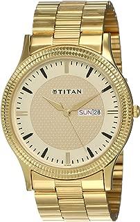 Titan Analog Gold Dial Men's Watch-NK1650YM04