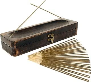 Natural Choice Incense Treasure Chest Incense Storage Box & Ash Catcher (Natural)