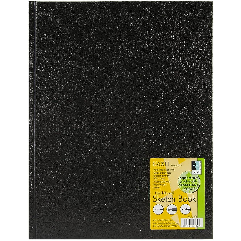 Black Hardbound Sketch Book 8.5X11