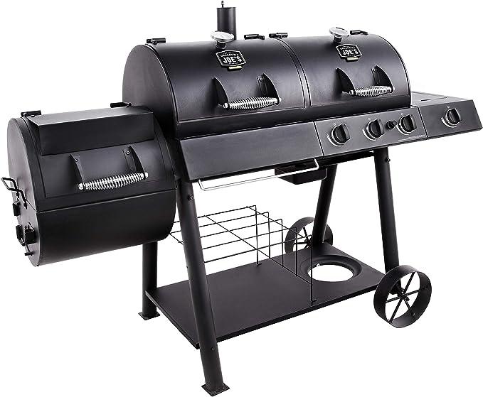 Oklahoma Joe's Charcoal/LP Gas/Smoker Combo – Best Hybrid and Smoker Combination