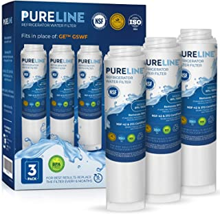 GE GSWF Certified Refrigerator Water Filter Replacement by PURELINE (3 Pack)