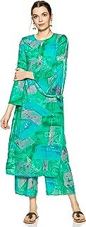 Libas Women's Rayon Straight Salwar Suit Set