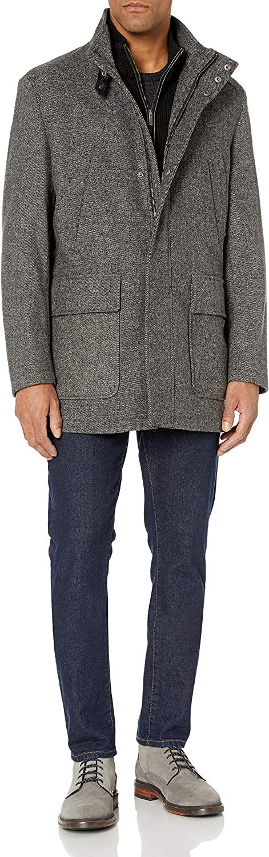 Cole Haan Men's Italian Twill Carcoat Jacket