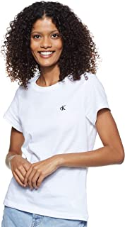 Calvin Klein Women's CK EMBROIDERY SLIM TEE S/S Knit Top