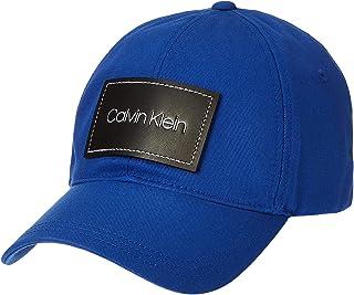 قبعة بيسبول برقعة من الجلد للرجال من كالفن كلاين، ازرق، مقاس واحد