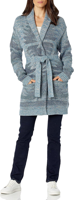 Pendleton Women's Monterey Shawl Collar Belted Cotton Cardigan Sweater