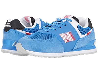 New Balance Kids 574 Speed (Infant/Toddler) (Faded Cobalt/Team Red) Boy