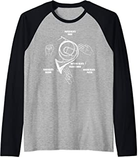 French Horn funny gift Nothing Beats French Horn Brass Band Raglan Baseball Tee