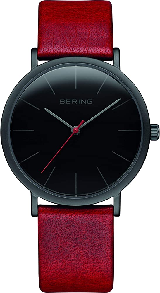 Bering orologio da donna in acciaio inossidabile e pelle 13436-622