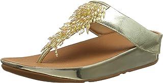 Fitflop Women's Rumba Thong Open Toe Sandals, Gold (Metallic Gold 537), 6 UK (39 EU)