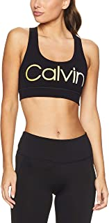 Calvin Klein Women's Performance Ombre Logo Racerback Medium-Impact Sports Bra