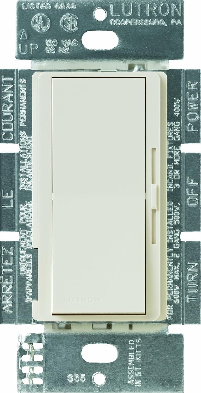 Lutron DVLV600PLA Diva 450watt Single Pole Magnetic LowVoltage Dimmer, Light Almond