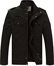 WenVen Men's Winter Military Style Air Force Jacket
