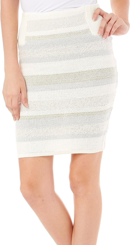 KIIND OF $69 Womens New 1194 White Above The Knee Pencil Skirt S B+B