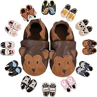 Chaussons Bébé Premiers Pas Chaussures Garçon Fille Cuir Souple Bébé antidérapants Mignon Colorée Animaux Pantoufles