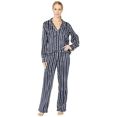 Splendid Satin Crop PJ Set (Bay Stripe) Women