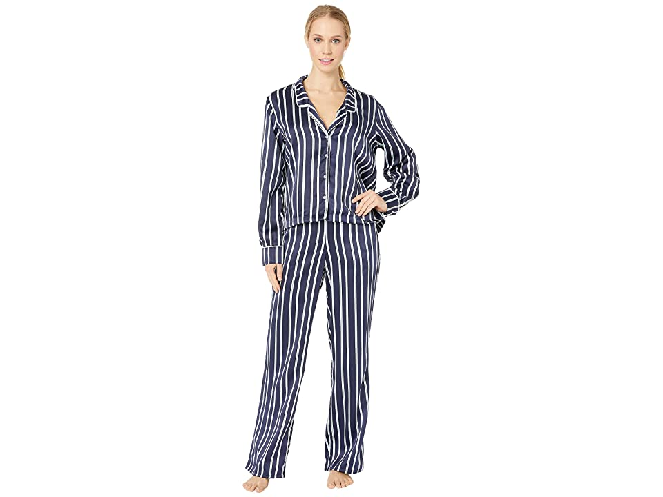Splendid Satin Crop PJ Set (Bay Stripe) Women