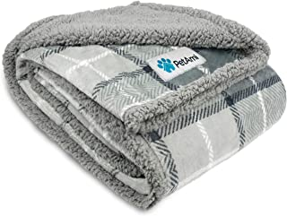 PetAmi Waterproof Dog Blanket for Medium Dogs, Puppies, Small Cats | Soft Sherpa Fleece Pet Blanket Throw for Sofa, Couch...