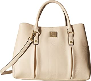 Anne Klein Womens Soft Folds Satchel