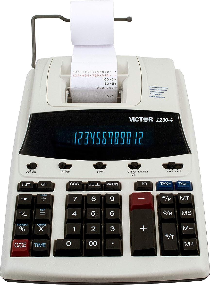 元に戻すバーストメディカル1230?–?4蛍光表示印刷電卓、ブラック/レッド印刷、3線/ sec 1-Pack