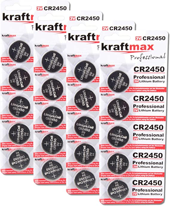 Kraftmax 20er Pack Cr2450 Lithium Hochleistungs Elektronik