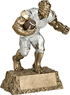 Decade Awards Football Monster Trophy - Triumphant Beast Gridiron Award - 6.75 Inch Tall - Engraved Plate on Request