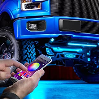 Lumen RGB LED Underbody Kit - Smartphone Bluetooth App Controlled - Two 48in Strips, Two 36in RGB strips