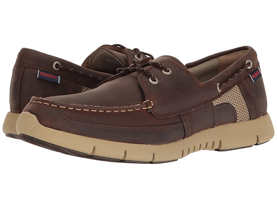 Sebago Kinsley Two Eye (Dark Brown Leather) Men