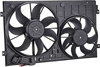 OrionMotorTech VW3120100 OEM Engine Radiator Cooling Fan Assembly Low Noise for Volkswagen Jetta Passat Golf