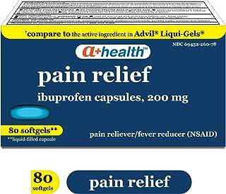 A+ Health Ibuprofen 200 Mg Softgels, 80Count