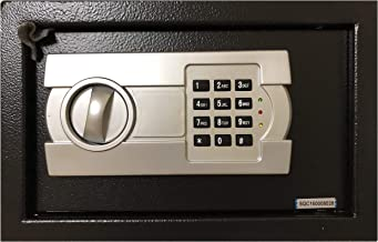 A4 Document Size Electronic Digital Safe Box Locker Security Safety Deposit With Key and Keypad Keyless Entry 25EG Black