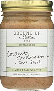 Ground Up Pdx, Nut Butter Almond Cashew Coconut Cardamom Chia Seed, 12 Ounce