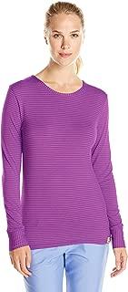pink purple striped shirt