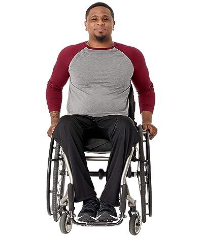 Abilitee Adaptive Wear Adaptive Shoulder Snap Baseball Tee (Burgundy) Clothing