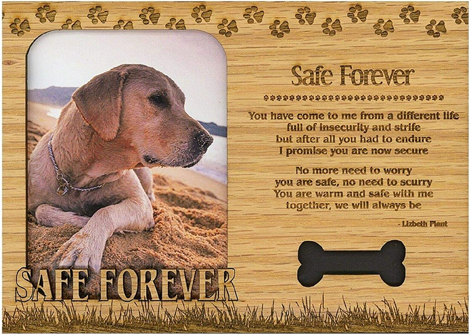Engraved Wood Picture Frame Magnet wholesale Home fra improvement Free shipping / New Magnetic