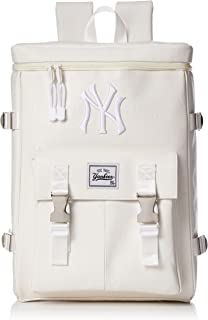 [MAJERRYG棒球]背包 背包 包 包 方形背包 合成皮革 PU 洋基队 女士 男士 中性 男女兼用 时尚 上学 流行 学生 成人 YK-MBBK61