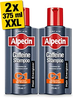 Alpecin XXL C1 Caffeine Shampoo 2x 375 ml | Hair Energizer Supports Natural Hair Growth | Shampoo for Stronger and Thicker...
