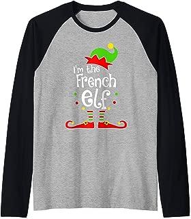 I'm The French Elf Xmas Family Friend Christmas Present Raglan Baseball Tee