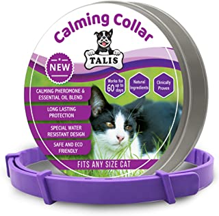 Calming Pheromone Collar for Cat with Thrilling Calming Effect to Keep Your Pet Healthy and Happy Adjustable Anxiety Natur...