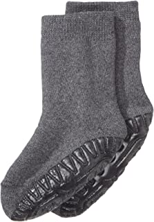 Calcetines con suela de goma antideslizante, Edad: 18-24 meses, Talla: 22, Gris oscuro (mezcla de antracita)