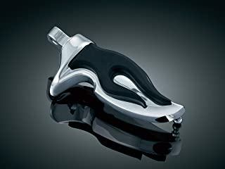Kuryakyn 4416 Motorcycle Footpegs: Flamin' Pegs with Male Mount Adapters, Chrome, 1 Pair