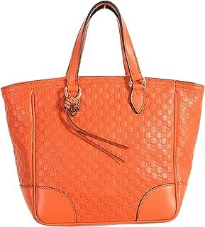 Gucci 100% Leather Orange Women's Handbag Shoulder Bag