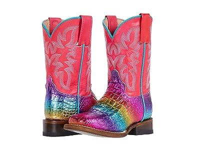 Roper Kids Ali (Toddler/Little Kid) (Rainbow Faux Caiman Vamp/Pink Shaft) Girls Shoes