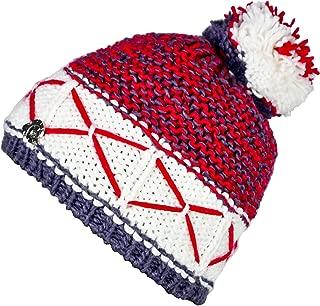 Warm Weich Bommel-Mütze Pudel-Mütze Winter-Mütze Stars and Stripes Rot Weiß Blau