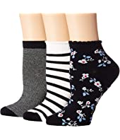 Kate Spade New York - Stripe 3-Pack Anklet Socks