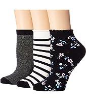 Kate Spade New York - Stripe 3-Pack Anklet Socks