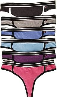 Cotton Panties Thong Underwear (Pack of 6)